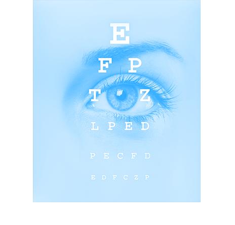 Abbildung eines Sehtests der Augenarztpraxis der Dres. Krehn und Kollegen in Bayreuth und Pegnitz