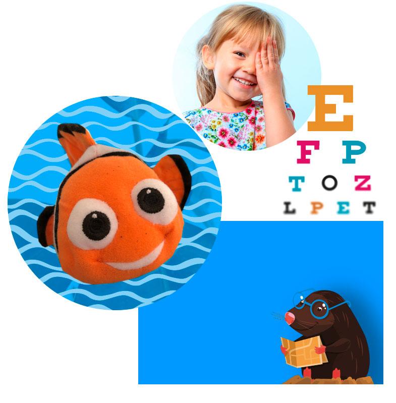 Glückliche Kinder bei der Untersuchung in der kinderfreundlichen Praxis des AugenCentrums in Bayreuth und in Pegnitz